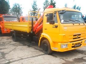Бортовой КАМАЗ 4308 с КМУ